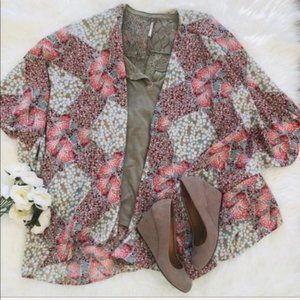Altar'd State   Floral Print Cocoon Kimono